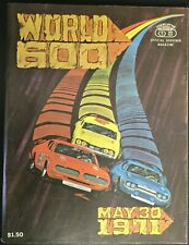 Official NASCAR 1971 Charlotte World  600 Vintage Race Program Bobby Allison win