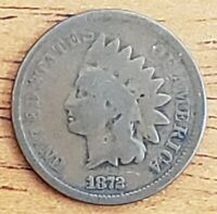 1872 Indian Head One Cent 1c G  Check It Out!!! KM# 90a #AA013