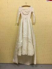 1950's GLAMOUR ELEGANT IVORY WEDDING DRESS WITH DETACHABLE TRAIN