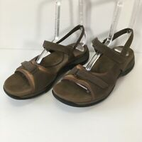 Clarks Springers Women's Grayish/Brownish Suede Mary Jane Sandals US Size 9.5M