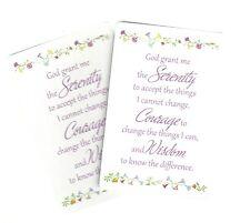 Serenity Prayer card (Lot of 2 Laminated Catholic Christian prayer cards