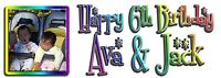 Personalised Rainbow text photo Birthday party banner. Banners any name age