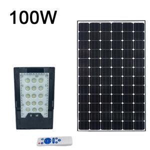 Faro led solare 100W luce fredda proiettore led rgb indicatore carica esterno