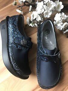 Alegria DEN 587 Slip On Comfort Shoes Women's Sz 37 7/7.5 ? Blue NWOB