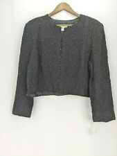 Talbots Silk Beaded Evening Blouse Size XL New Long Sleeve Formal New