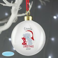 Personalised Tiny Tatty Teddy 'My 1st Christmas' Bauble Babies First Xmas