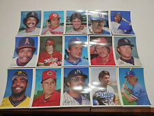 "Lot of 10 Sets - 1981 Topps National (5"" x 7"" ) Photo Set of 15"