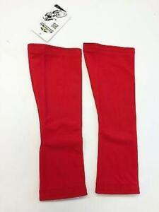 No Logo Super Roubaix Cycling KNEE WARMERS in Red - Made in Italy by GSG