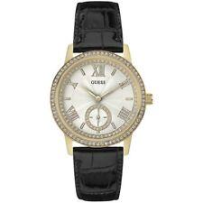 Guess Donna Orologio W0642L2 Gramercy Oro Pelle Coccodrillo Watch Pietre