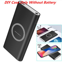 2in1 500000mAh Power Bank Qi Wireless Charging USB Portable Battery Charger Case