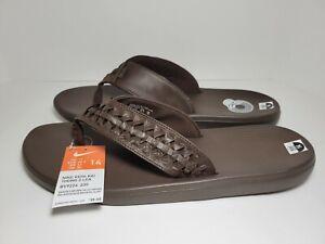 Mens Nike Kepa Kai Thong 2 Leather Flip Flops Baroque Brown #BV9224-200 Size 14