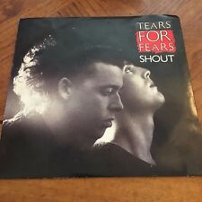 """Tears For Fears 45 RPM - """"Shout"""" & """"The Big Chair"""" Original Picture Sleeve VG"""