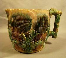 Etruscan Majolica Shell & Seaweed Pattern Jug Pitcher E26 c1880's