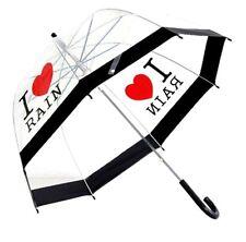I Love Rain señoras Clara Burbuja Domo Paraguas