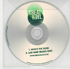 (EF938) Great Heat, Who's The Dude / Laid Bare - 2013 DJ CD