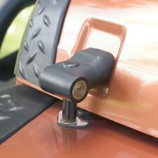 1997-2006 Jeep Wrangler & Unlimited TJ LJ Hood Lock Locking Latch Set Black 7691
