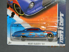 HW HOT WHEELS 2011 HEAT FLEET #4/10 FISH'D & CHIP'D HOTWHEELS BLUE w/FLAMES VHTF