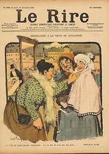 """le rire - colour print from 1899 """" consolation a la veuve du guillotine """""""