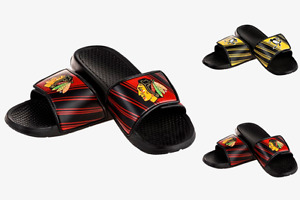 NHL Hockey Mens 2017 Legacy Sport Slide Sandal Flip Flops - Choose Team