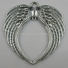 10260 2PCS Alloy Large Feather Wings Pendant Charm Fit Dangle Jewelry Finding