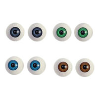 M01544 MOREZMORE 1 Pair Glass Eyes Iris 8mm VIOLET BLUE Flat Back Doll Puppet