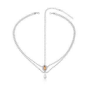 Rhinestone Crystal Pendant Headpiece Jewellery Head Chain Hairband Headdress