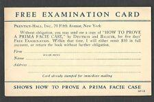 Ca 1921 P C NY PRENTICE HALL BOOK ON LAW HOW TO PROVE PRIMA FACIE CASE UNPOSTED