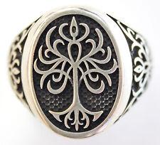 HUGE MENS DESIGNER Sterling Silver Ring Sz 10 US