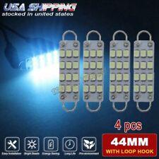 4x 44mm Ice Blue Rigid Loop LED Car Interior Map Light Bulbs 561 562 563 564