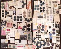 Huge All Vintage Lot 280 Assorted Buttons on 88 Cards Schwanda/Lansing/Exquisit+