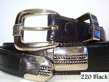 New Croco Western Conch Golf Belt Brown Black or Camel SIZE S M LG XL