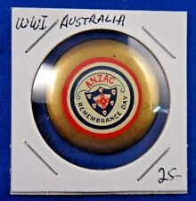 Original Vintage Wwi Ww1 Australia Anzac Remembrance Day Pin Pinback Button