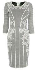 Karen Millen Fine Knit Jumper Bodycon Dress Black And White UK 8 - 10 size 1