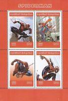 Madagascar - 2019 Marvel Comics Superhero Spider-Man - 4 Stamp Sheet - 13D-271