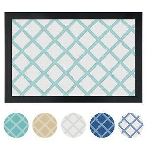 ArtToFrames Custom Cork Bulletin Board Diamond Framed in Satin Black