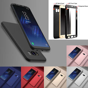 UK Hybrid 360° Hard Shockproof Protective Case Cover For Samsung Galaxy Mobiles