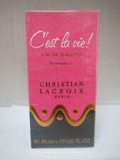 CHRISTIAN LACROIX C'est la vie! 1.7 oz/50 ml  EAU DE TOILETTE SPRAY NIB SEALED