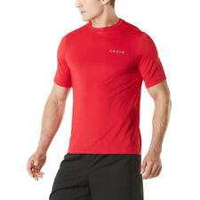 TSLA Tesla MTS04 HyperDri Short Sleeve Athletic T-Shirt - Solid Red