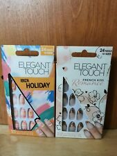 Elegant Touch False Nails: French Kiss Romance & Ibiza Holiday New