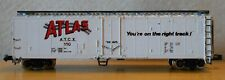 N scale 50' boxcar ATCX You're on the Right Track plug door Atlas good