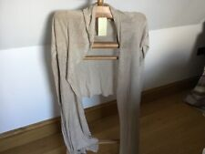 ronit zilkha 100% Linen Knit Drop Fronted Cardigan Xl Brand New