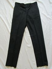 Vtg 50s 60s Black Hollywood Waist Tapered Wool Dress Pants 30x30 Suit Vlv Waldes