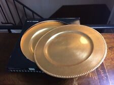 New In Box Set of 4 Cellini Gold Plate Chargers - Underplates