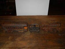 Antique Cast Iron Toy Train Set # 44