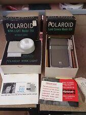 Vintage Polaroid Land Camera Model 80A With Wink-Light Flash-Instant Camera