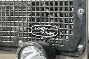 """Land Rover Solihull"" *SMALL* Oval Grille Badge (Cast Aluminum) Series Defender"