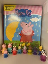 PEPPA PIG BUSY BOOK - STORY 10 FIGURES FREE P+P - UK STOCK - BRAND NEW