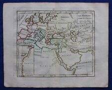 ORIGINALE Antico Mappa Mondo Antico, Europa, Nord Africa, Brion de la Tour, 1774
