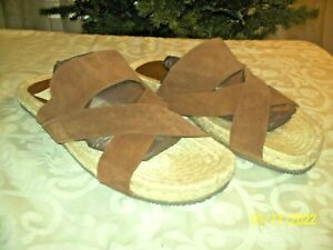 The Men's Store at Bloomingdale's Cross Band Sandals Brown Size 9 M NIB $150