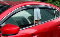 for Mazda 6 M6 Atenza 2013-2020 Plastic Window Visor Vent Shades Rain Guard 4pcs